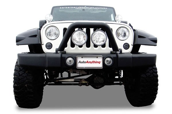 mbrp jeep front light bar grille system
