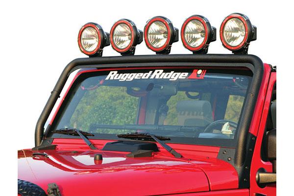rugged ridge windshield light bar