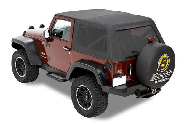 bestop trektop jeep top black denim