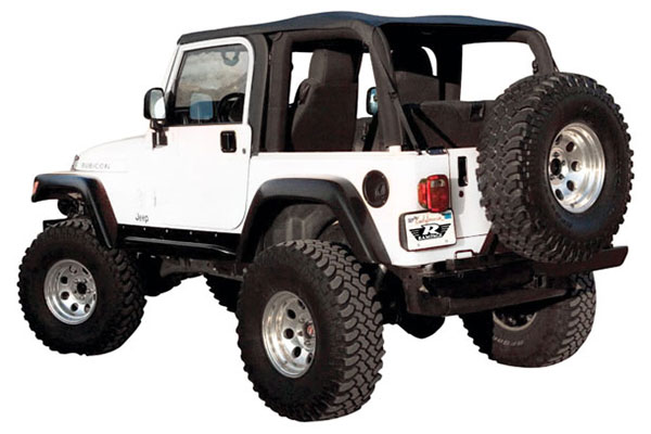 Jeep Wrangler Soft Top >> Rampage Frameless Trail Top Sailcloth Jeep Soft Top Rampage