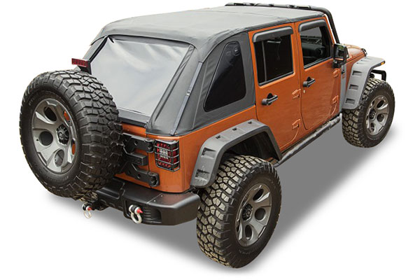 rugged ridge bowless jeep top