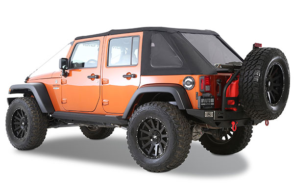 Jeep Wrangler Soft Top Cover >> Smittybilt 9083235 - Smittybilt Bowless Combo Soft Top - FREE SHIPPING!