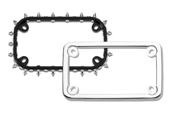 Motorcycle License Plate Frames - Chrome Motorcycle License Plate Frame