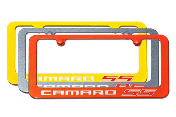 elite camaro paint matched license plate frames
