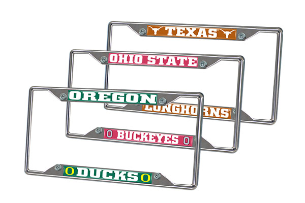 fanmats ncaa license plate frames