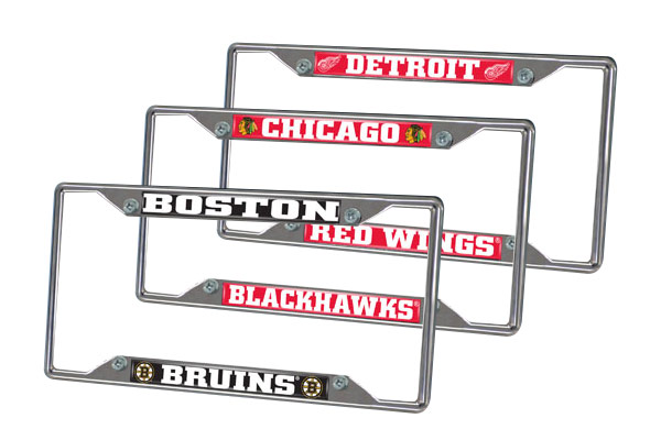 fanmats nhl license plate frames