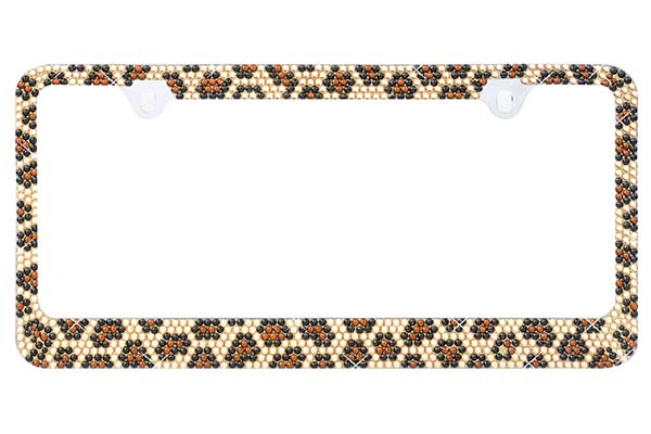 ProZ Leopard Bling License Plate Frame - FREE SHIPPING!