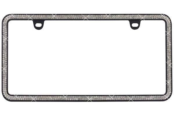proz premium 2 row rhinestone icense plate frame