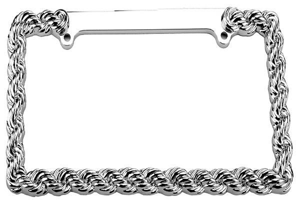 proz rope license plate frame