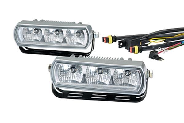 hella 3 led light