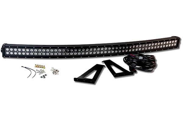 proz double row blackout series led light bar kit