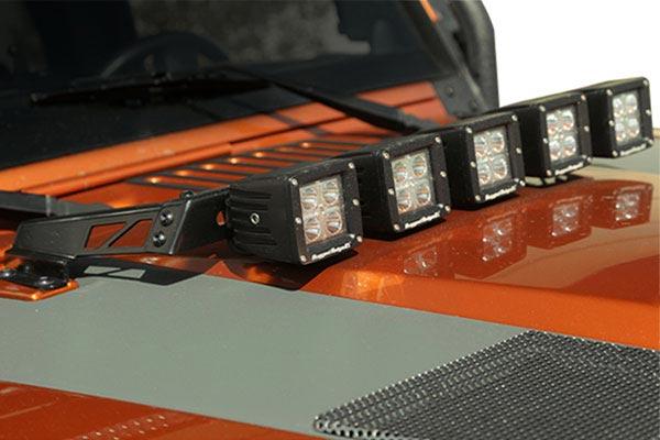 rugged ridge hood light bar