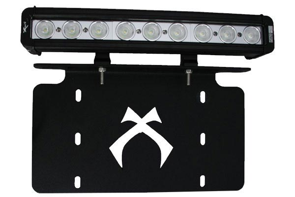 visionx license plate light bar bracket