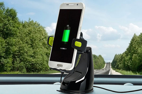 bracketron pwrup qi fast wireless charging mount