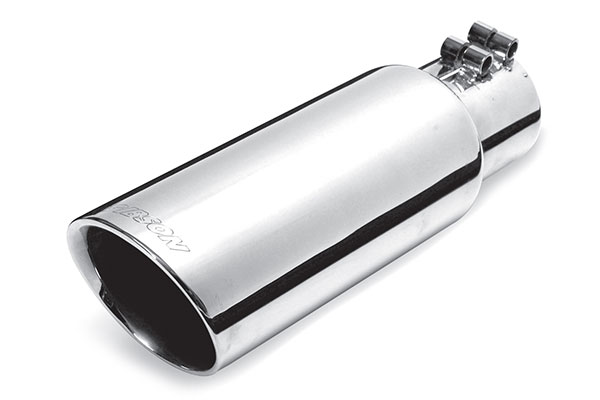 gibson round angle cut double wall exhaust tip