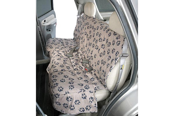 canine covers crypton paw print custom suede seat covers
