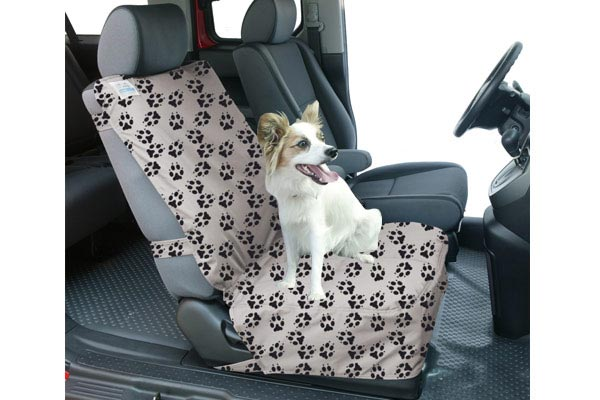 canine covers crypton paw print semi custom suede bucket seat cover