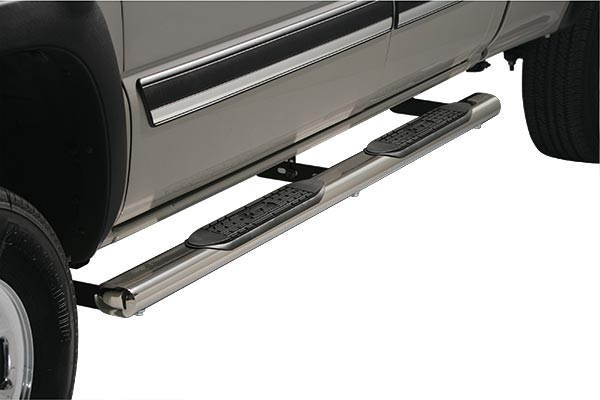 ICI 4 inch Oval Cab Length Nerf Bars Polish