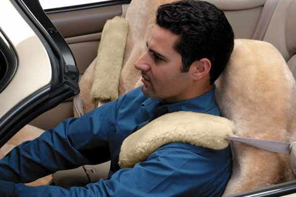 5 star sheepskin seat belt covers