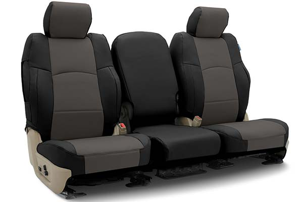 Coverking Synthetic Leather Front Seat Covers for Subaru Baja in Leatherette