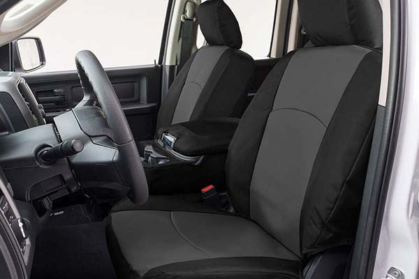 Covercraft Precision Fit Endura Seat Covers in Charcoal/Silver, 1st-Row Seat Covers