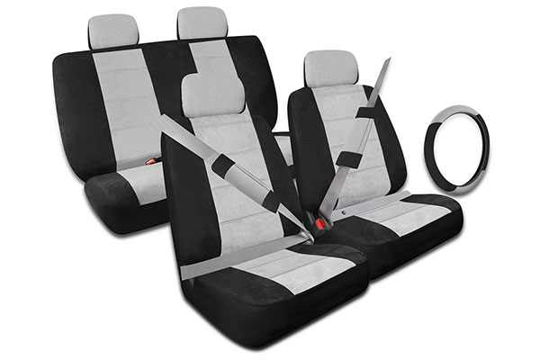 proz microfiber seat cover kit free shipping. Black Bedroom Furniture Sets. Home Design Ideas