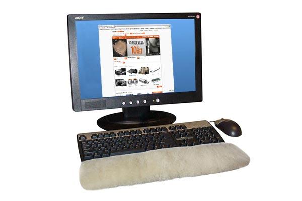 Sheepskin Keyboard Wrist Rest