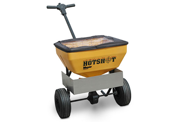 meyer hotshot walk behind salt spreader