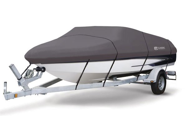 Classic Accessories StormPro Boat Cover - Supports Boat - Canvas - Gray
