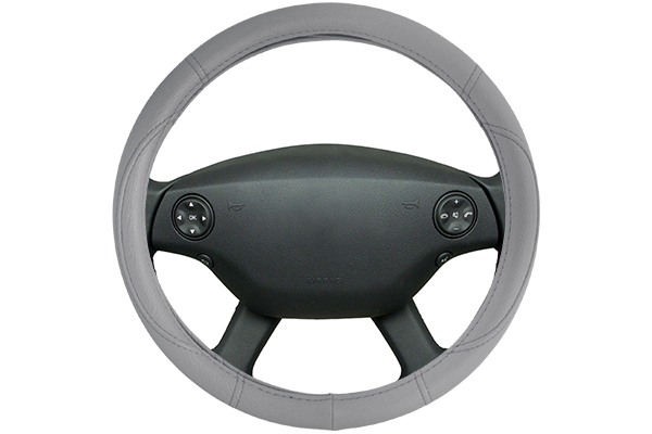 classic leatherette steering wheel cover