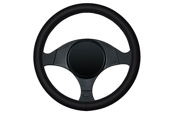 dash designs smooth leather steering wheel cover