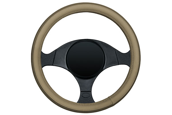 dash designs sport grip steering wheel cover tan