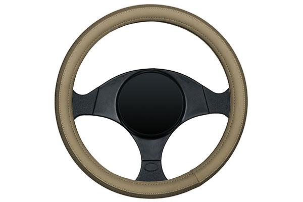 dash designs sport grip steering wheel cover tan