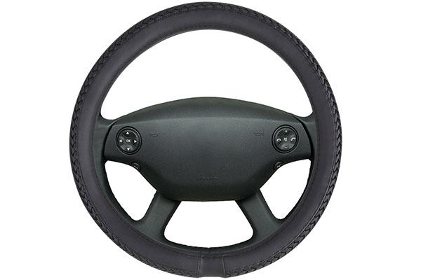 motor trend braided leatherette steering wheel cover  2