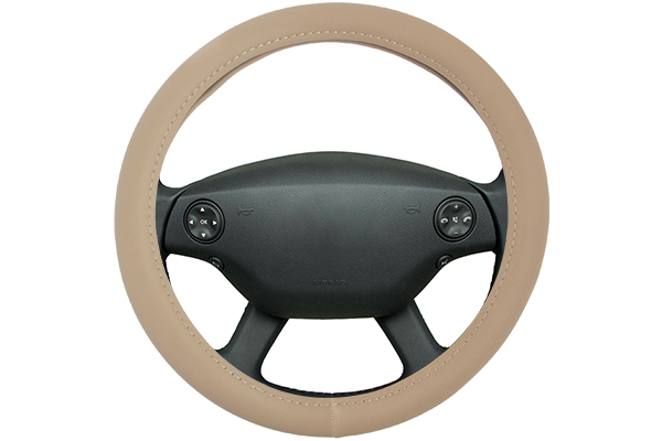 perforated leatherette steering wheel cover