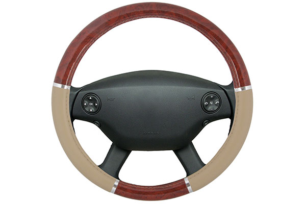 Proz Burlwood Steering Wheel Cover Burl Wood Steering Wrap