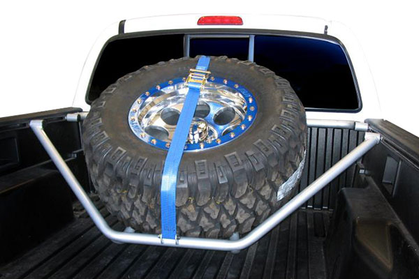 n fab sliding channel mounted tire carrier