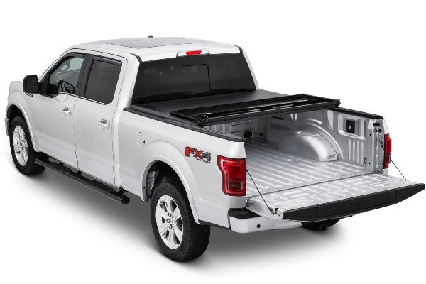 tonnopro hardfold bed cover on ford f150 half folded open