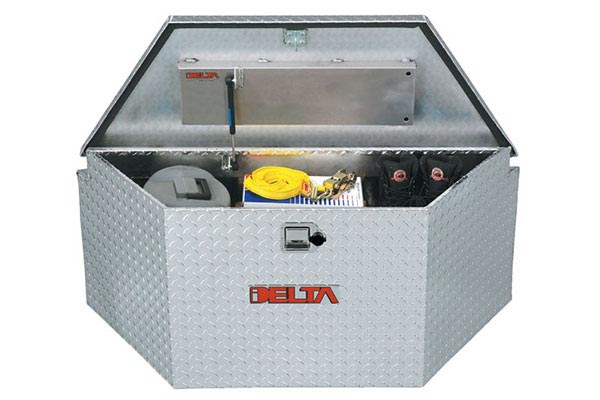 Trailer Tool Boxes | Tongue Mount, Diamond Plate, Aluminum