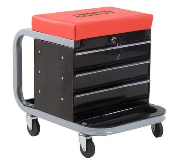 Pro Lift Tool Box Creeper Seat Garage Mechanics Toolbox