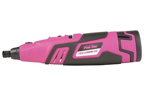 the original pink box 12 volt lithium ion cordless rotary tool hero