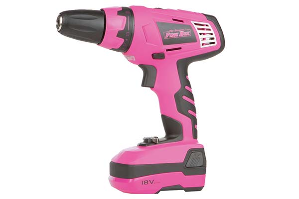 the original pink box 18 volt lithium ion cordless drill hero