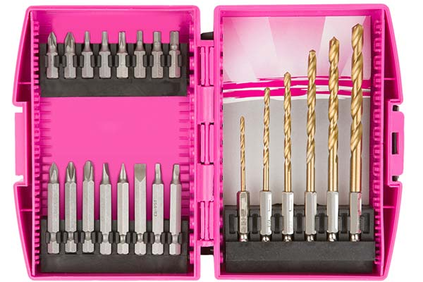 the original pink box drill and driver set hero