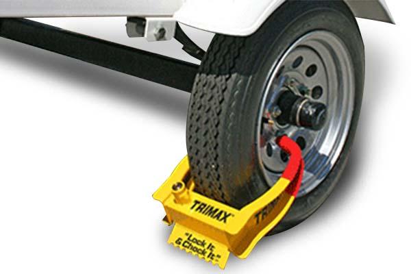 Trailer Wheel Chocks >> Trimax Wheel Chock Lock Free Shipping On Trimax Locking Wheel