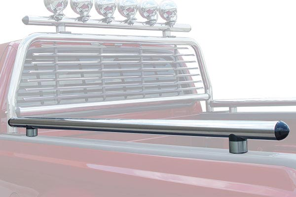 go industries stainless steel headache rack bed rail accessory
