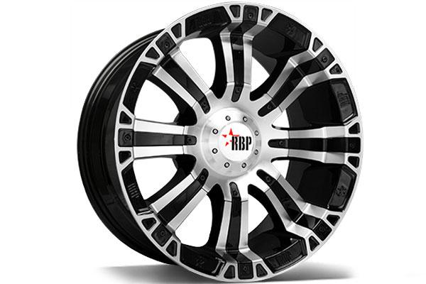2001 Jeep Wrangler RBP 94R Black Machined Wheels