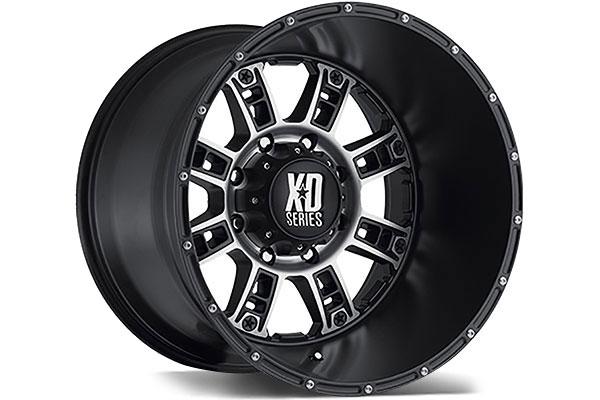 kmc xd series XD809 matte black machined