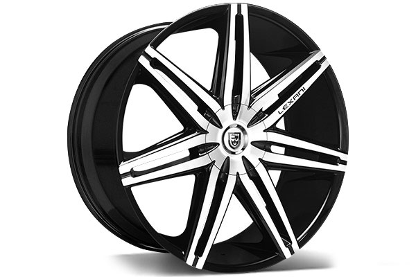Lexani Johnson Ii Black Machined Wheels