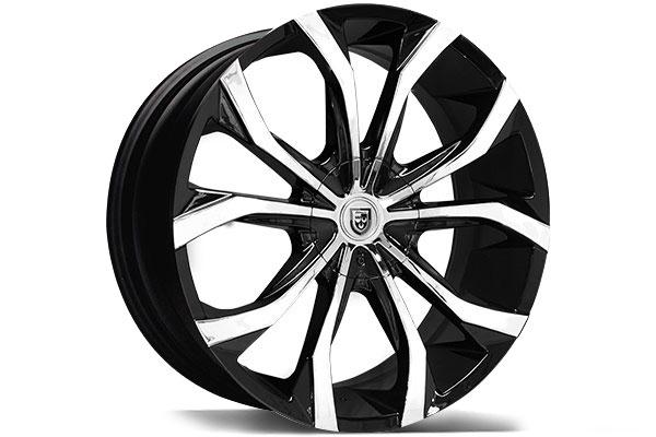 lexani lust black machined wheels