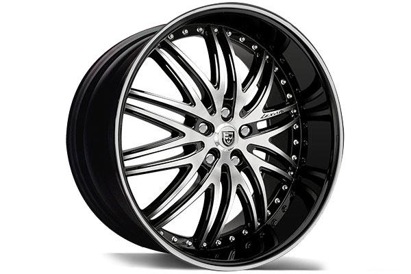 lexani lx10 black machined wheels
